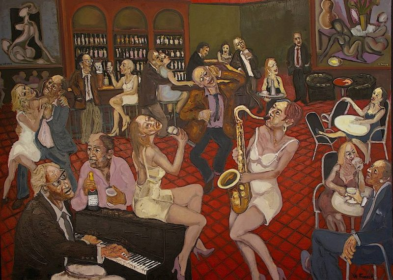 Le Café des Artistes HST 97x130