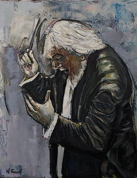 Le Chef d'Orchestre Huile sur toile 73x60