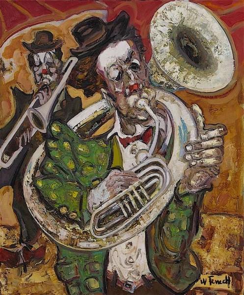 Le Clown Tromboniste HST 65x54