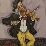 Le Clown violoniste HST 46x38