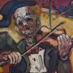 Le Clown violoniste HST 55x38
