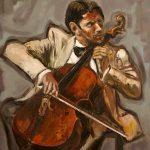 Le violoncelliste HST 55x46