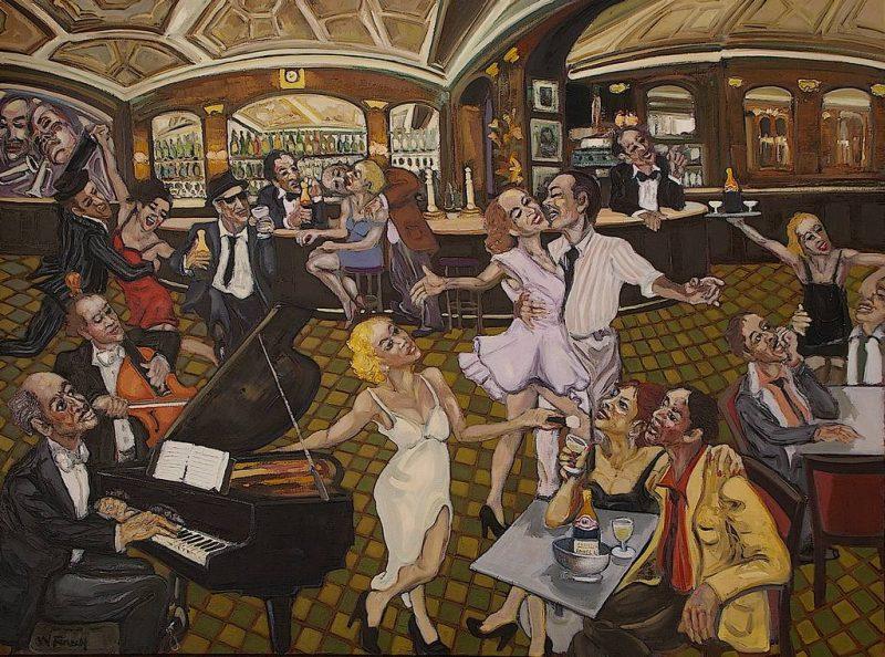 Le bar à Champagne HST 130x97