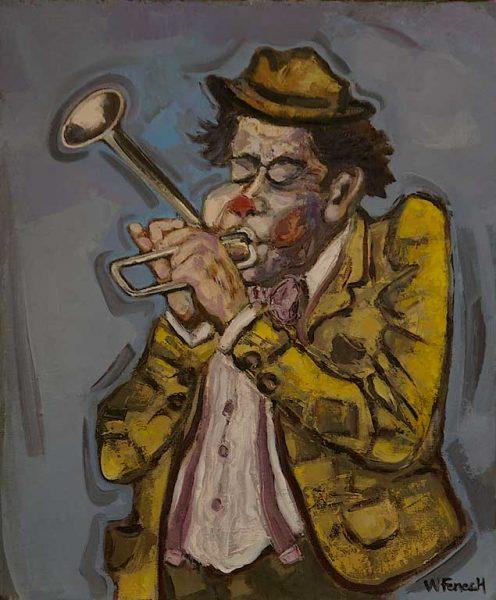 Le clown à la trompette coudée HST 55x46