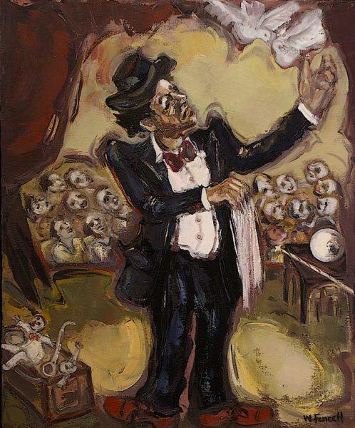 Le magicien aux colombes HST 73x60 - William Fenech