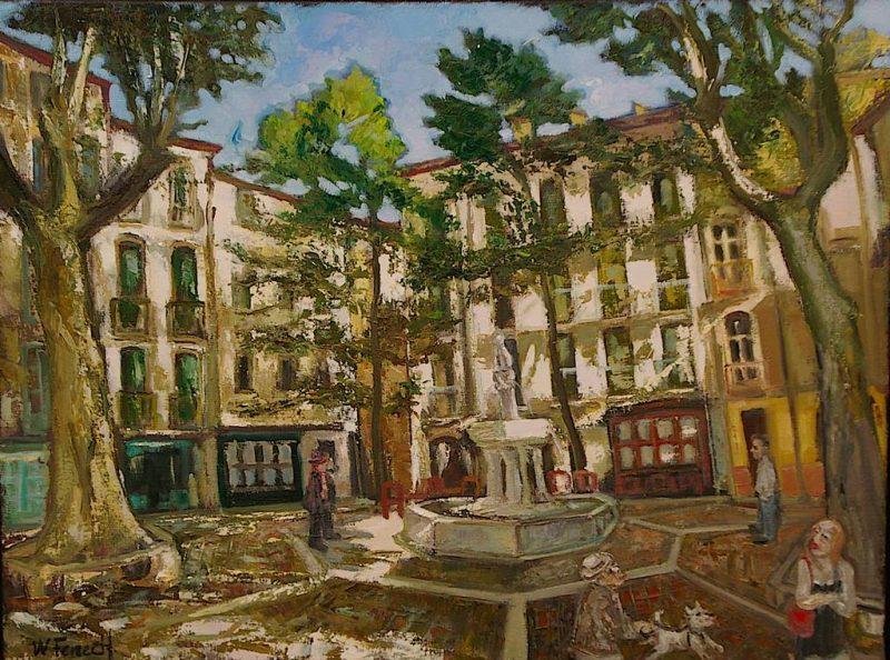 Place de la Fontaine des 9 jets HST 46x61