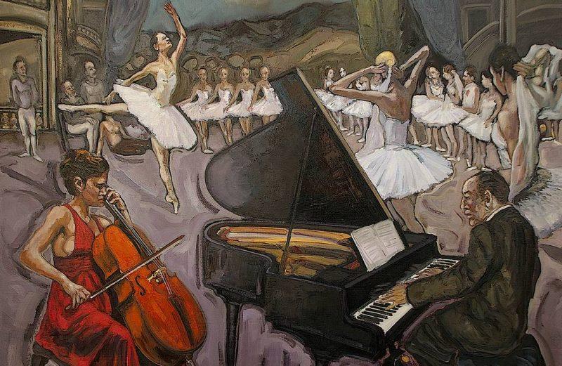 Répétition à l'Opéra de Paris HST 130x97