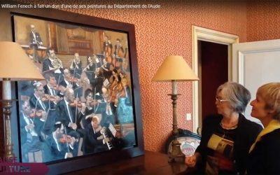 Don d'une de ses peintures au Département de l'Aude