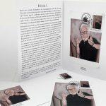 Autoportrait: enveloppe, carte, timbre et dépliant - William Fenech