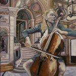 La Violoncelliste au décor baroque - HST 55x46