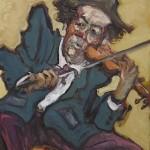 Le Clown Violoniste HST 40x30