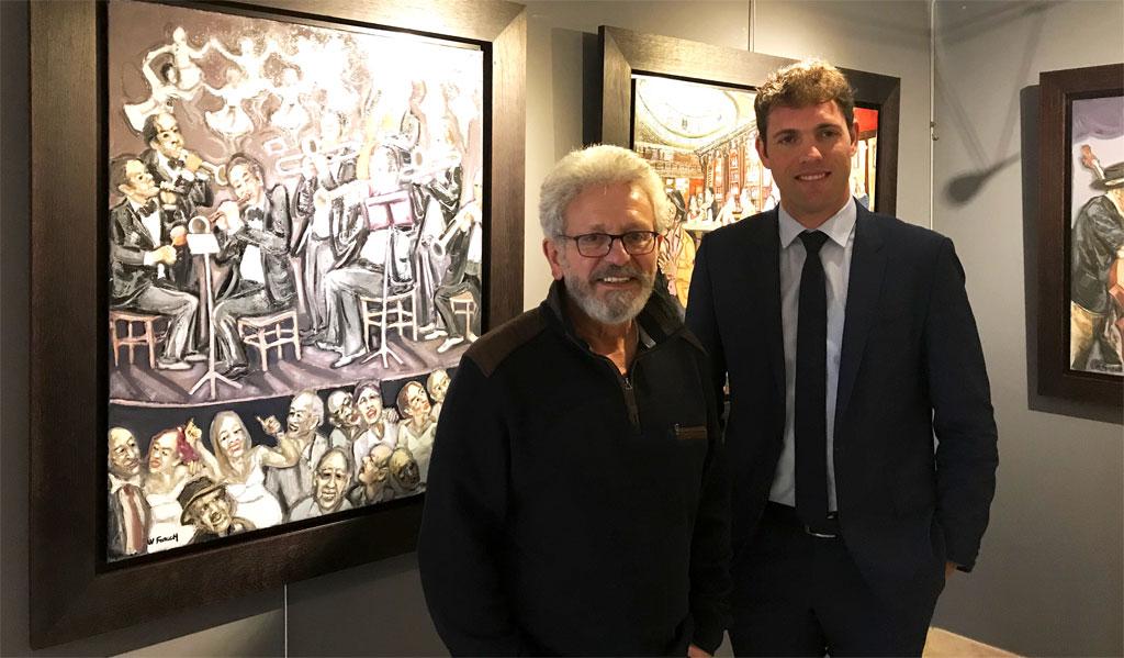 William Fenech et le députe Sébastien Cazenove