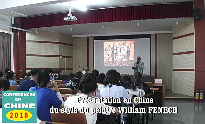 Conférence Chine William Fenech - Mai 2018